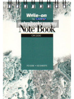 Spiral Bound Note Book (Single Line) A7-70 gsm-50 Sheets