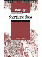 Spiral Bound Shorthand Book (Single Line) 127x204mm-70 gsm-50 Sheets