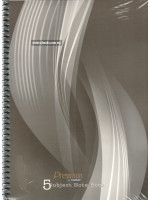 CA3250 Spiral Bound Premium 5 Subject Note Book (220 X 297mm) 160 Sheets-60gsm