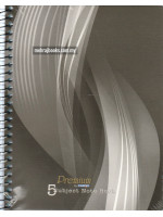 CA3253 Spiral Bound Premium 5 Subject Note Book (163 X 210mm) A5-160 Sheets-60gsm