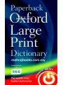 Paperback Oxford Large Print Dictionary 2nd Edition