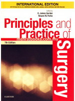 Principles and Practice of Surgery Seventh Edition
