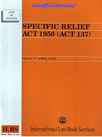 Specific Relief Act 1950 (Act 137) (As At 1 May 2019)