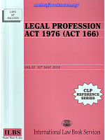 Legal Profession Act 1976 (166) (As At 10 May 2019)