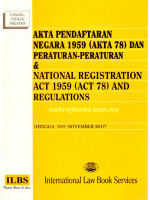 Akta Pendaftaran Negara 1959 (Akta 78) Dan Peraturan-Peraturan & National Registration Act 1959 (Act 78) And Regulations