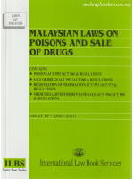 Malaysian Laws On Poisons and Sale of Drugs