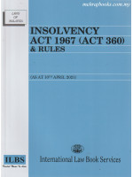 Insolvency Act 1967 (Act 360) & Rules