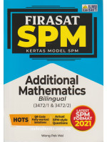 Firasat SPM Kertas Model SPM Additional Mathematics - Bilingual (3472/1 & 3472/2)