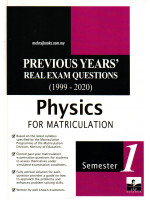 Previous Years' Real Exam Questions (1999-2020) Physics For Matriculation Semester 1