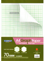 A4 Graph Paper Each Side Contain 2mm square & 7.5mm ruled  70 GSM 30 Sheets
