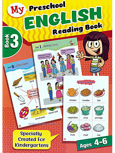 My Preschool English Reading Book 3 Ages 4-6