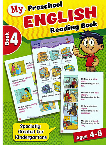 My Preschool English Reading Book 4 Ages 4-6