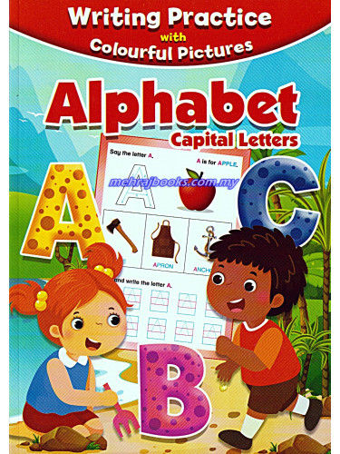 Writing Practice With Colourful Pictures Alphabet Capital Letters