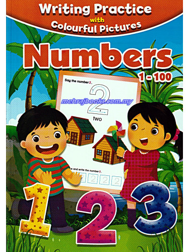 Writing Practice With Colourful Pictures Numbers 1-100