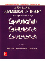A First Look at Communication Theory Tenth Edition