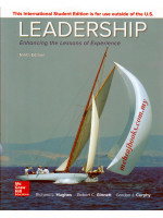 Leadership: Enhancing the Lessons of Experience 9th Edition