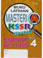 Buku Latihan Masteri A KSSR Cursive Writing Year 4