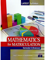 Mathematics For Matriculation Semester 2 (Science )