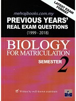 Previous Years' Real Exam Questions (1999-2018) Biology For Matriculation Semester 2