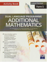 Dual Language Programme Additional Mathematics Activity Book Form 5-Bilingual