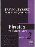 Previous Years' Real Exam Questions Physics For Matriculation Semester 2