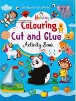 My Holiday Colouring Cut and Glue Activity Book