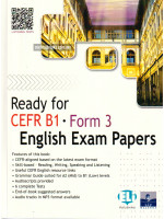 Ready for CEFR B1 Form 3 English Exam Papers