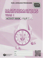 Activity Book Mathematics Year 1 Part 1 - DLP